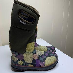BOGS CLASSIC HIGH LE JARDIN Floral Tall Rain Boots